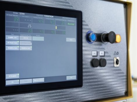 This is a photo showing Forsstrom's touch-screen operating panel