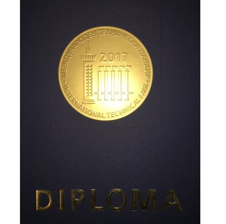 This is a photo of the gold medal and diploma that Forsstrom won for ForFlexx.