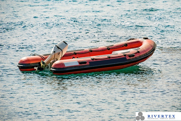 This is a photo of an inflatable rubber boat.