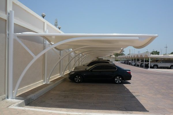 This is a photo of a car sun shade produced in a Forsstrom HF-welding machine.