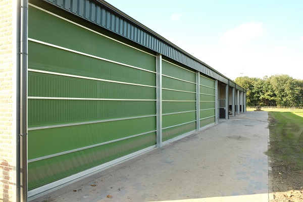 This is a photo of an agricultural door produced in a Forsstrom HF-welding machine.