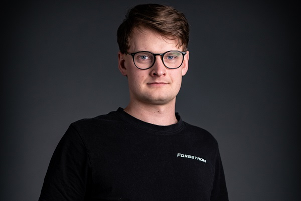 This is a photo of Anton, who is a Forsstrom technician.