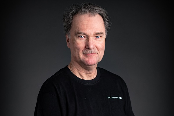 This is a photo of Lars-Olof, who is a Forsstrom technician.