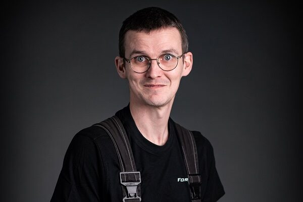 This is a photo of Viktor, who is one of Forsstrom's technian's.