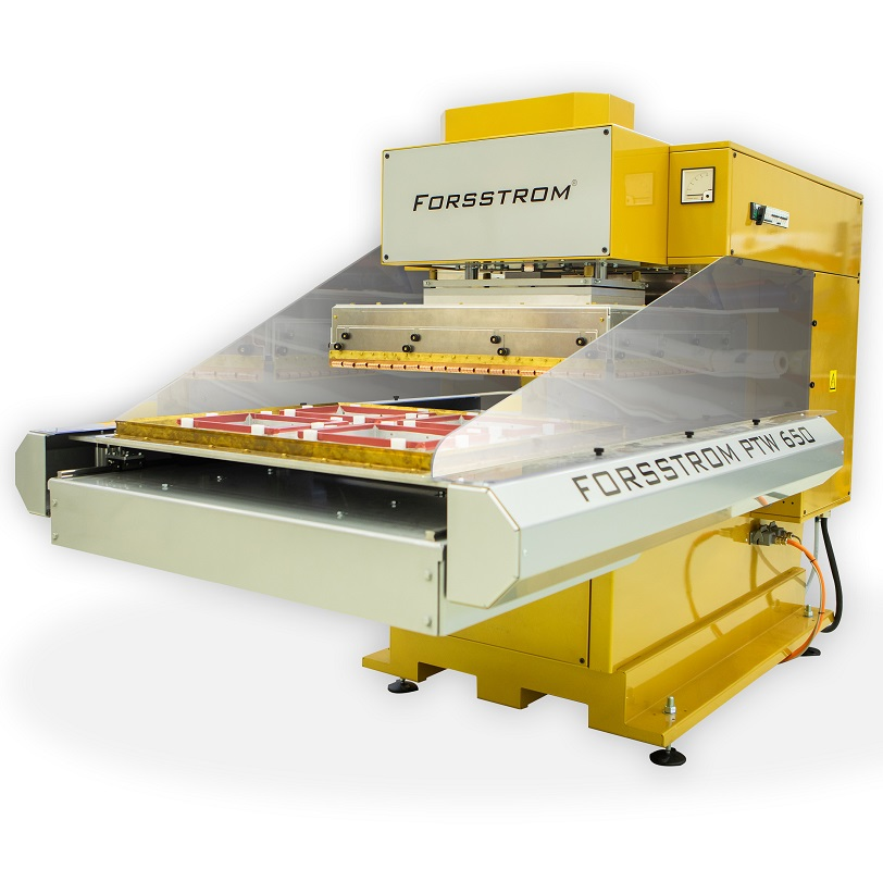 The picture shows Forsstrom's platen welder PTW.
